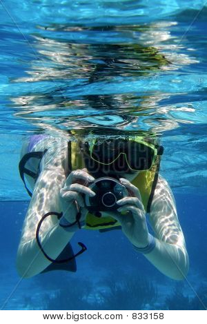 Snorkler with Camera