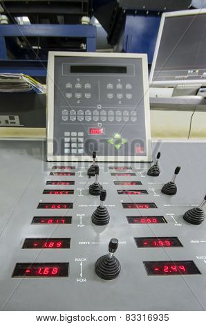 offset roto printing machine registration control unit