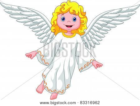 Cute cartoon angel