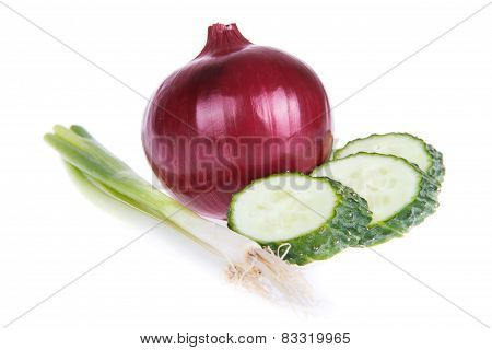 Purple Onion And Cucumber