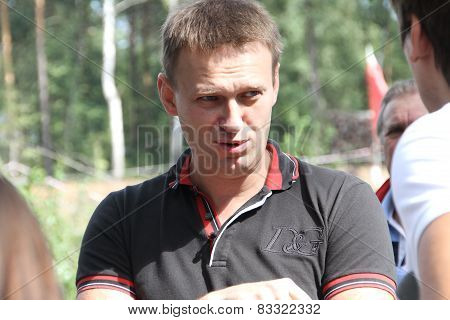 Politician Alexei Navalny Talks With Activists In Khimki Forest