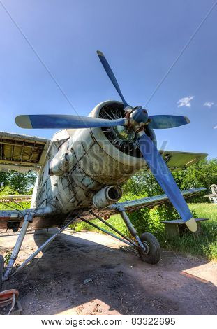 The Antonov An-2 A Soviet Mass-produced Single-engine Biplane At An Abandoned Aerodrome