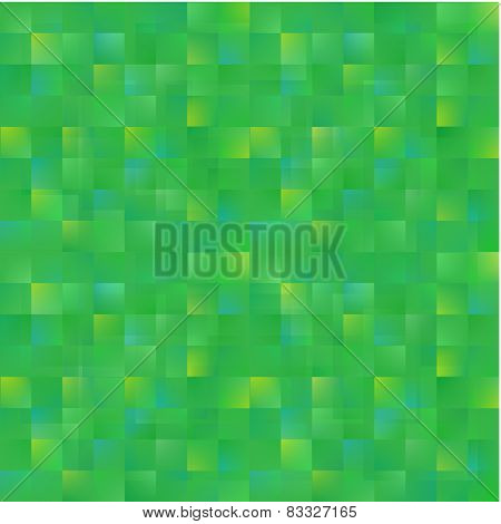 vector abstract green squares background