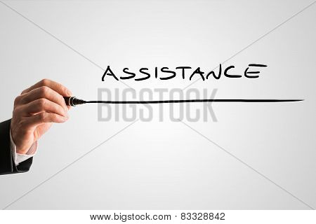 Writing Word Assistance On Virtual Screen
