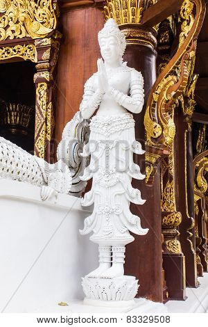 Angels Statue Thai Temple