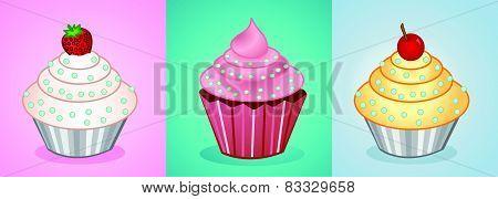 vector cupcakes