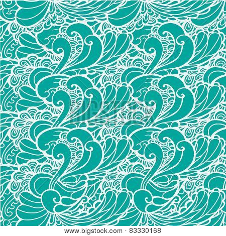 vector wavy sea blue and green