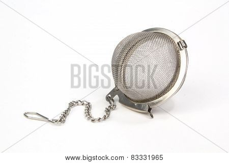 Closed Tea Strainer Isolated On White Background