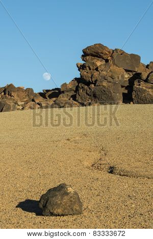 Rocks, Moon And Sand