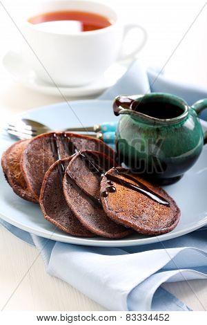 Chocolate Whole Wheat Pancakes