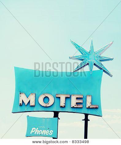 Amercian retro motel sign
