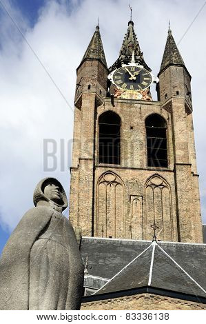 Statue Of Geertruyt Van Oosten In Delft