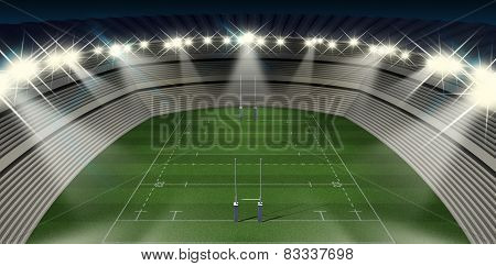 Rugby Stadium Night