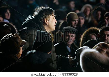 Former President Of Georgia Mikheil Saakashvili