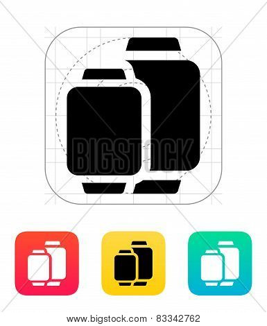 Two sizes of smart watches icon.