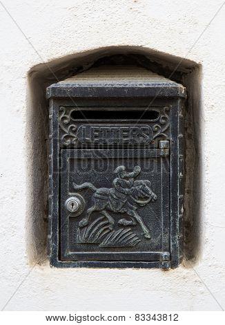 Black Vintage Letterbox