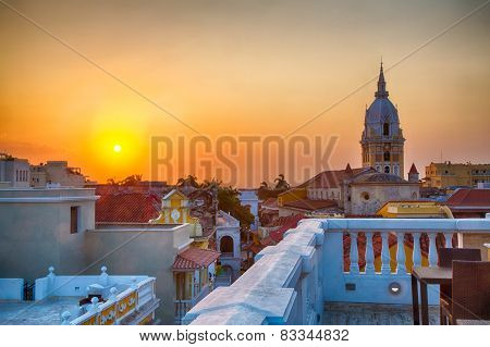 Sunset Over Cartagena
