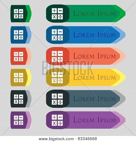 Multiplication, Division, Plus, Minus Icon Math Symbol Mathematics Set Of Colour Buttons Vector
