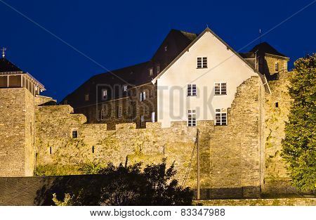 House Built On Old Castle Walls, Monschau