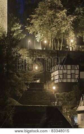 Stairway At Night, Monschau