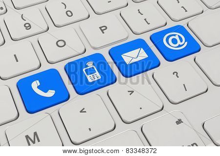Contact Us - Keyboard - Blue