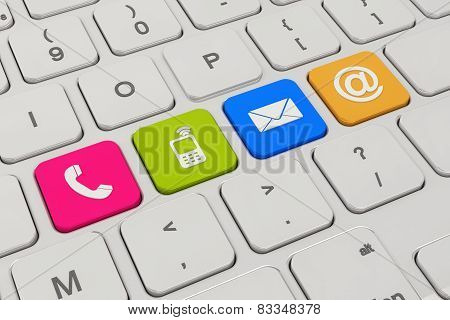 Contact Us - Keyboard - Colorful