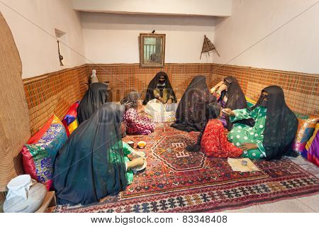 Room With Bedouin Women