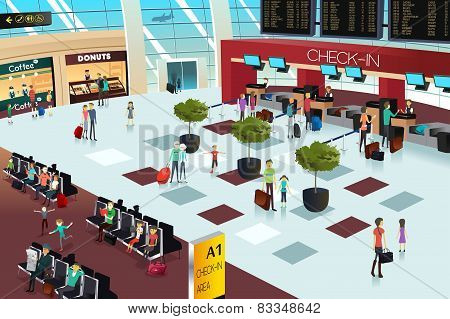 Inside The Airport Scene