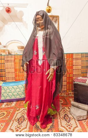 Bedouin Woman In Traditional Dress