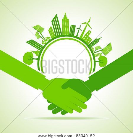 Eco cityscape -go green concept stock vector