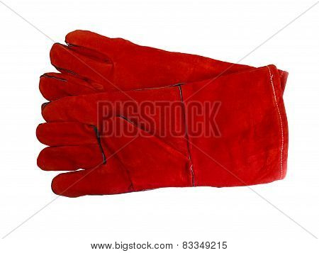 Red Protective Work Gloves