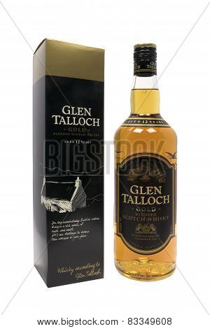 Netherlands - Delft - Circa Januari 2015: Glen Talloch Blended Scotch Whisky.