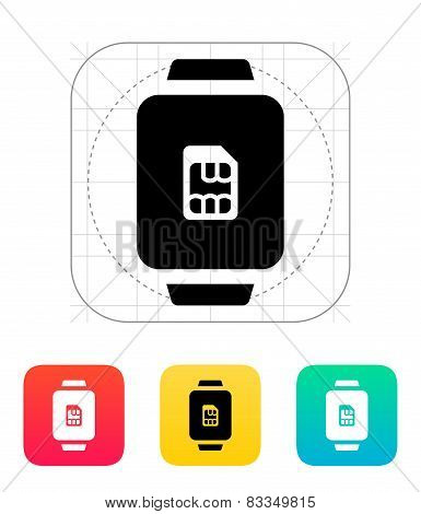 SIM card in watch icon.
