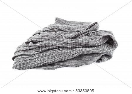 Woolen Scarf Isolated On White Background