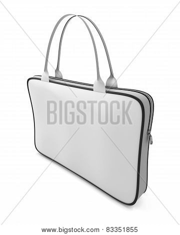 White Bag With Zipper