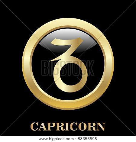 Capricorn Zodiac Sign In Circle Frame