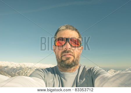 Alpinist Taking Selfie