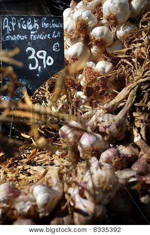 Garlic, Street Market In  Provence, France