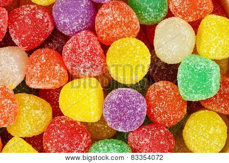 Assorted Multicolored Gum Drops.