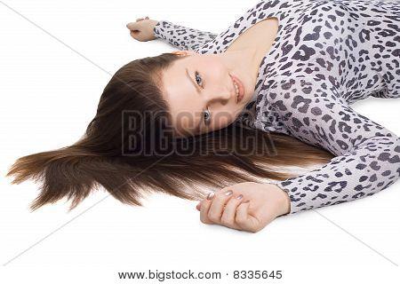 Bild von schöne Frau mit langem Haar