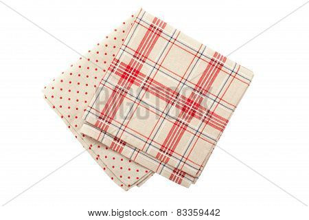 Stack of colorful dish towels