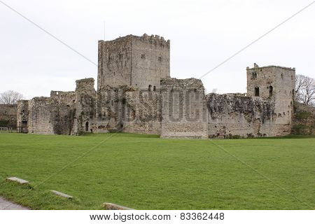The ruins of an old medieval castle