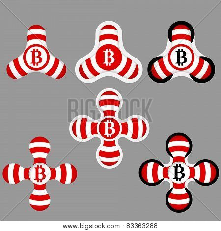 Red And White Icons