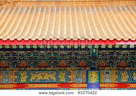 Traditional Chinese Style Temple At Wat Leng-noei-yi In Nonthaburi,thailand