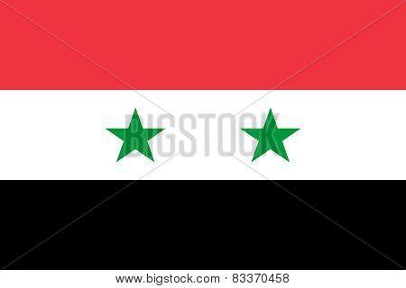 Syrian Arab Republic Official Flag