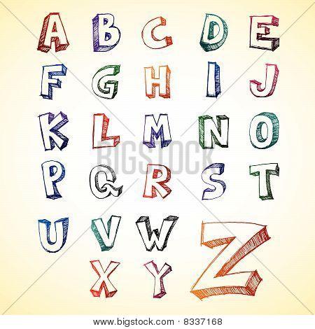 Sketchy Alphabet 2