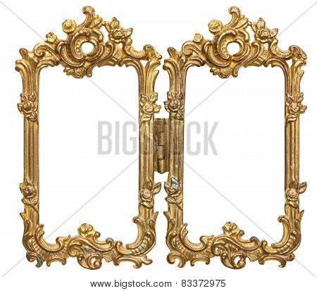 Ornate Gold Double Picture Frames