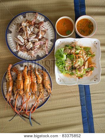 seafood lunch set