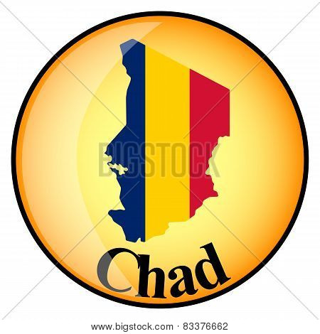 Orange Button With The Image Maps Of Chad