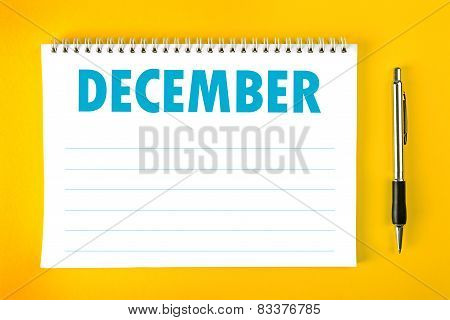 December Calendar Blank Page